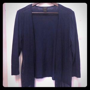Ann Taylor open drape front cardigan
